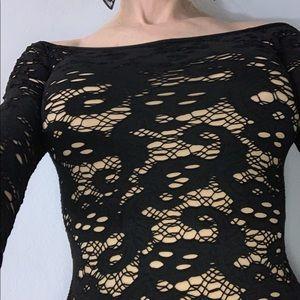 Blk lace dress